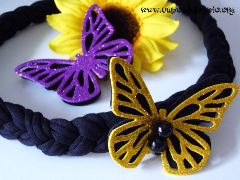 Un poco de collar y broche de mariposa - Mariposas goma eva ...