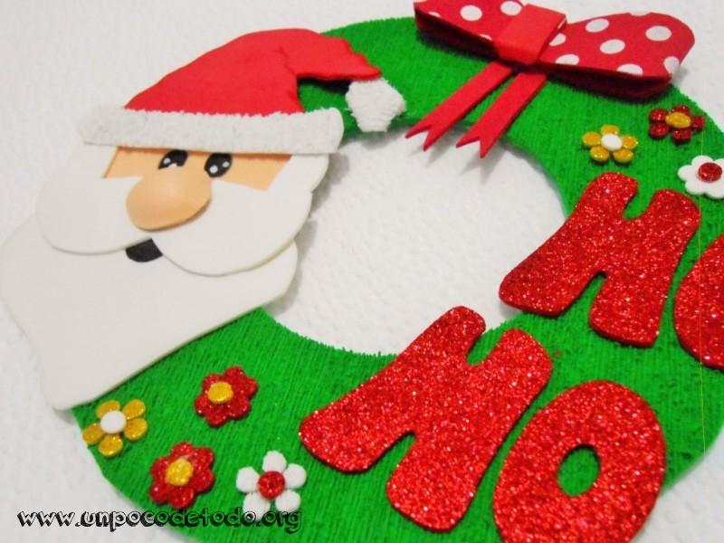 Hermoso cartel de navidad en goma de manualidades foamy - Manualidades de navidad con goma eva ...